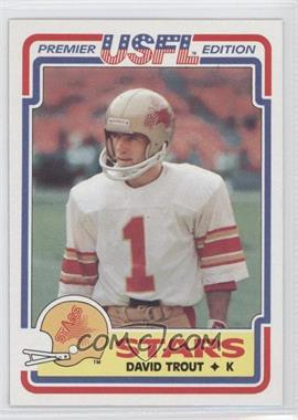 usfl, vintage football cards, david trout, merf trout, terry bradshaw, chuck noll, pittsburg steelers, doug flutie