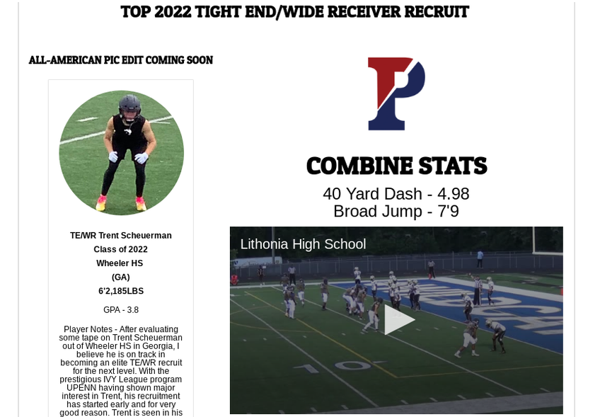 2022 hs all american te, top 2022 tight end recruits, tight end recruits 2022, scout trout player notes, hs all american fb roster, create a cfb scouting profile,