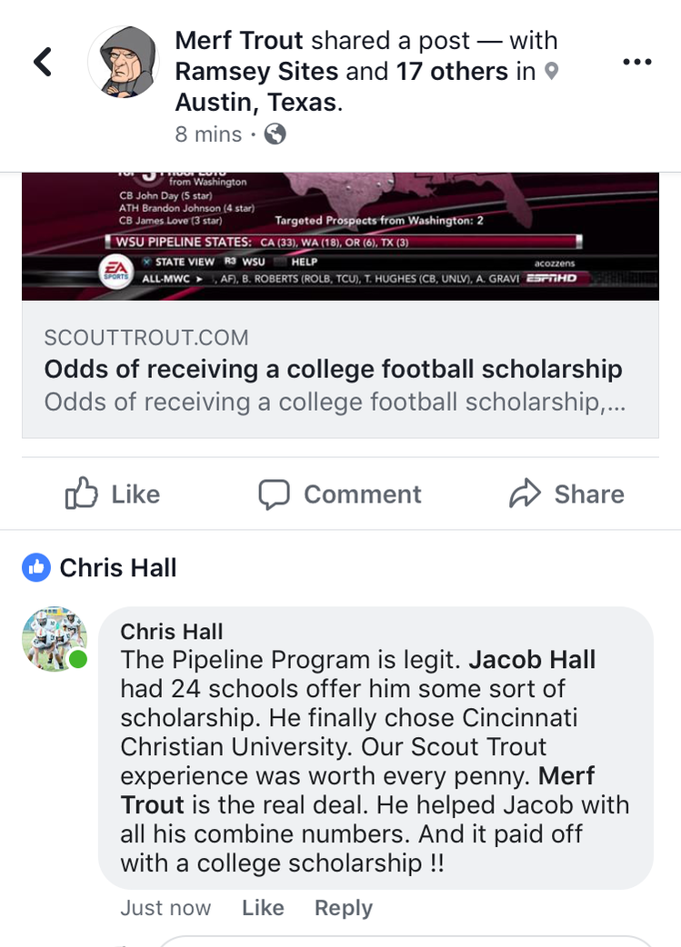 scout trout reviews, ncsa reviews, play ncaa football, top college fb recruits, best college fb recruits, 2018, 2019, 2020, class of 2021, nick saban, nsca football, recruiting, college football recruiting help, get better at football, get a football scholarship, how to get a football scholarship, ivy league football scholarship